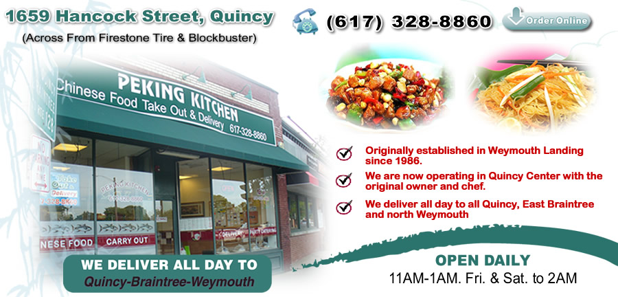 Peking Kitchen Order Online Quincy Ma 02169 Chinese