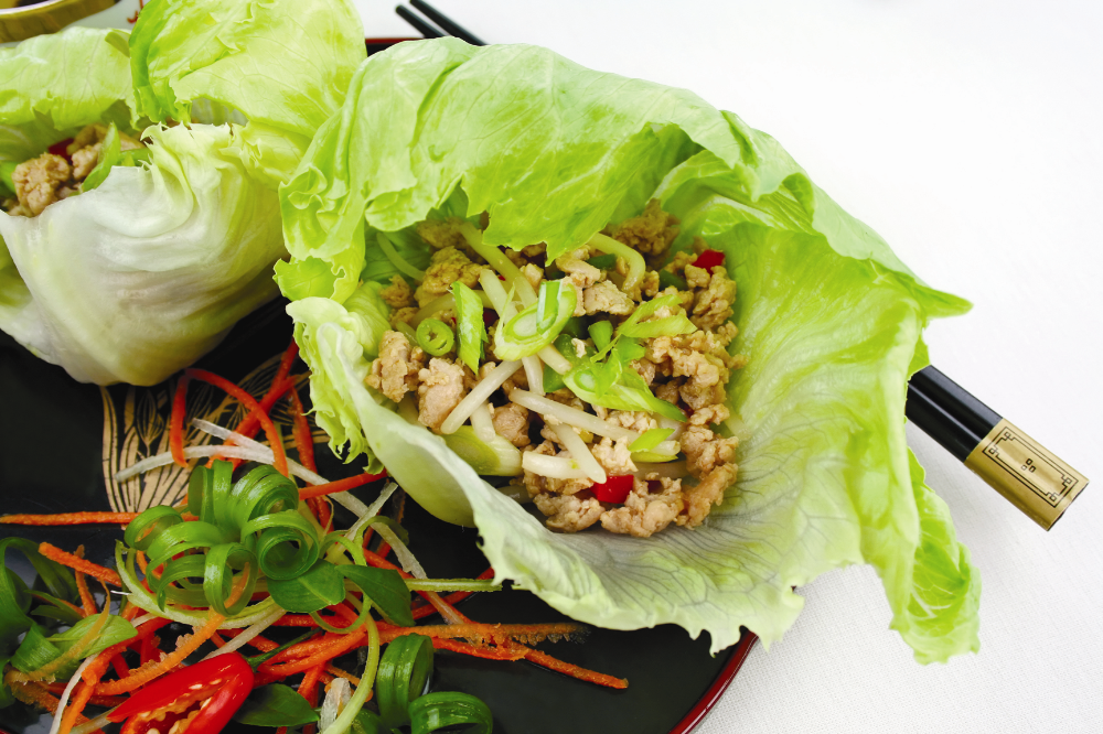 Mince Chicken in Lettuce Cups