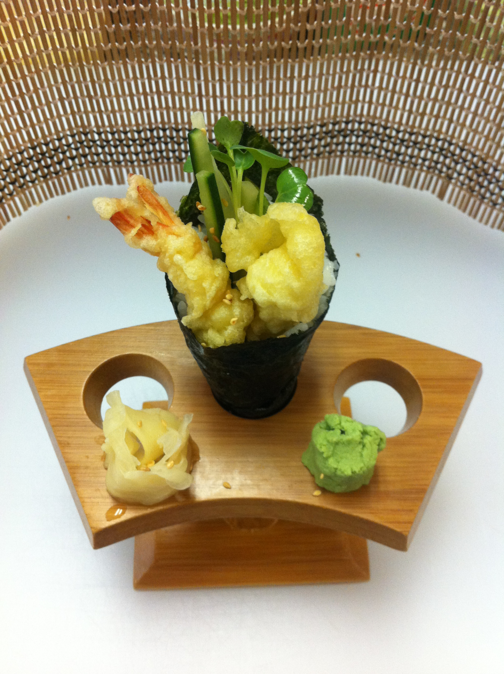 Shrimp Tampura Hand Roll