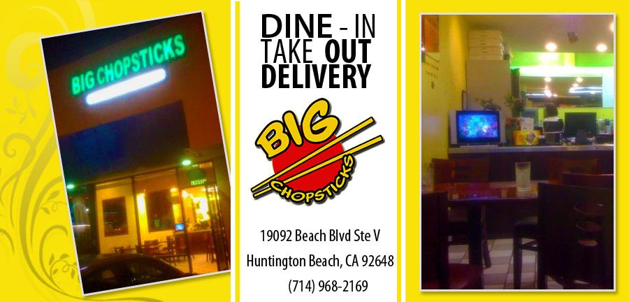 Big Chopsticks Order Online Huntington Beach Ca 92648 Chinese
