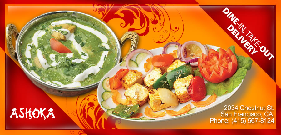 Ashoka indian cuisine order online san francisco ca 94123 indian for Ashoka indian cuisine menu