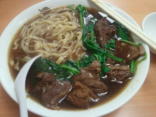 Spicy beef with hand made noodles