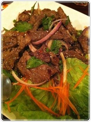 Beef salad.