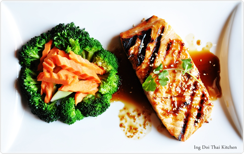 Teriyaki salmon..