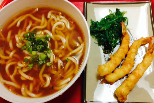 Tempura and Udoe Noodle Soup