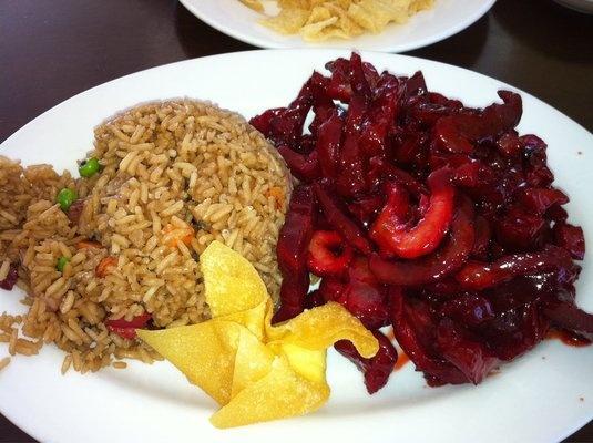 Boneless spare rib with pork fried rice