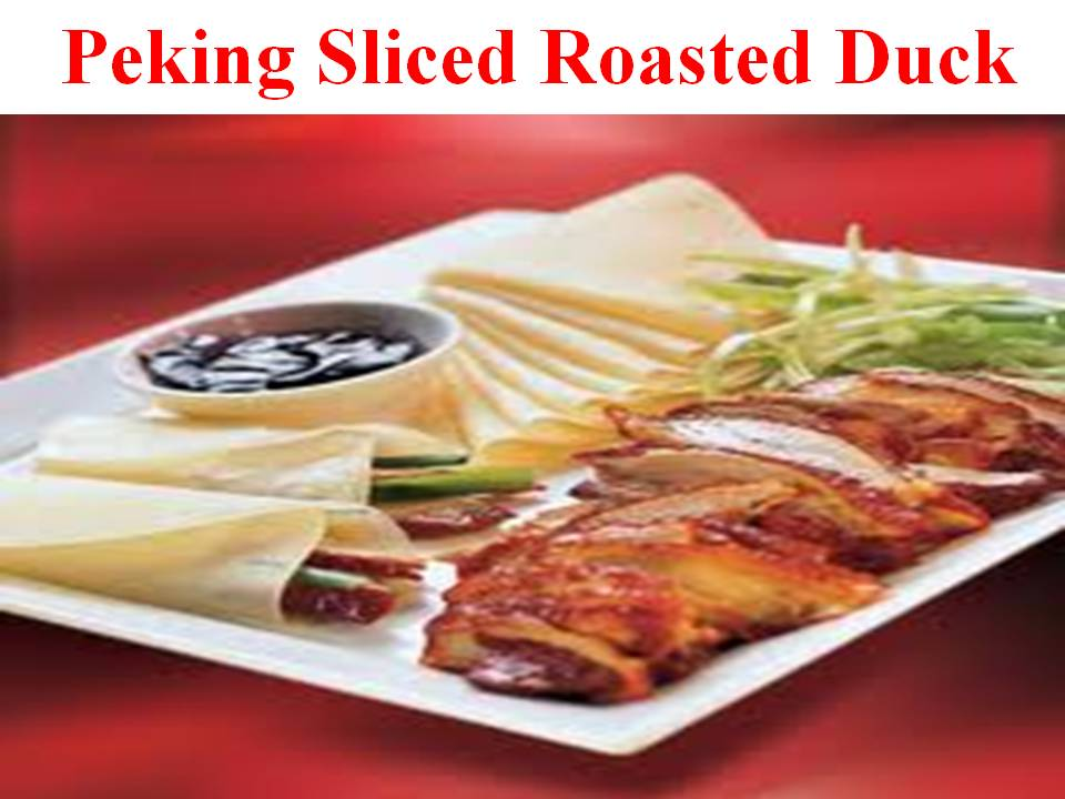 Peking Sliced Duck