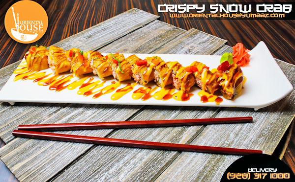 Crispy Snow Crab Sushi Roll Orienta House Yuma 1