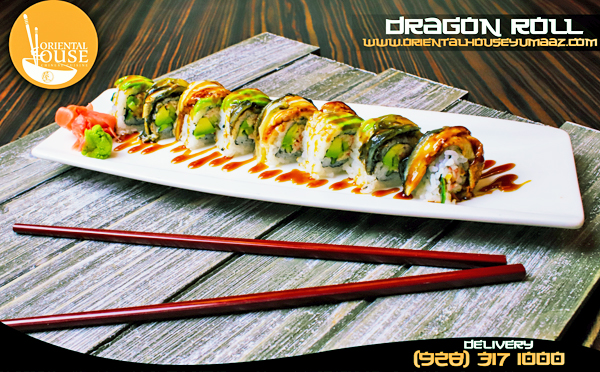 Dragon Sushi Roll Orienta House Yuma 1