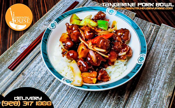 Tangerine Pork Bowl Food Oriental House