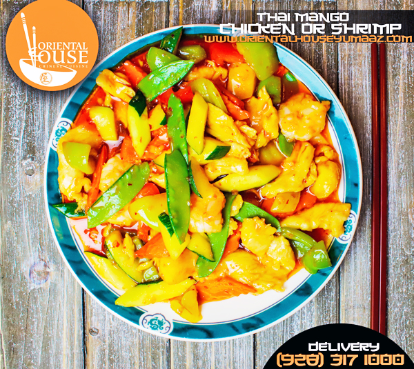 Thai Mango Chicken and Shrimp Orienta House