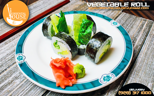 Vegetable Sushi Roll Orienta House Yuma 1