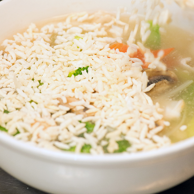 Crispy-Rice-Chicken-Soup