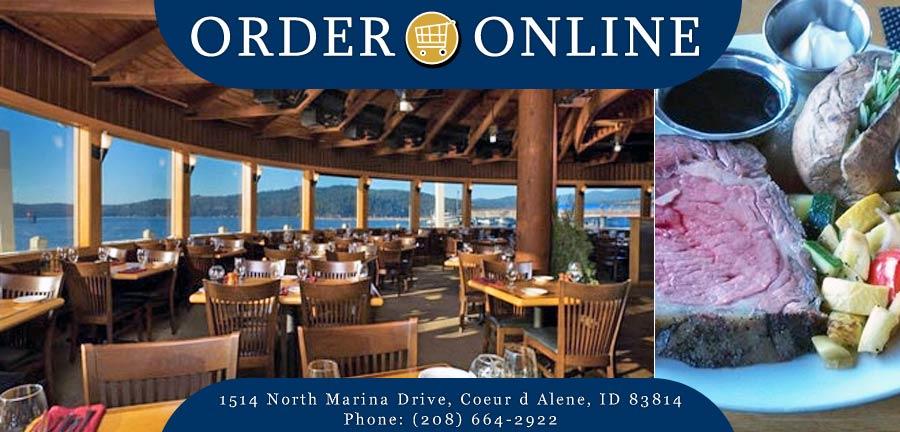 The Cedars Floating Restaurant Order Online Coeur D Alene Id 83814 Steak