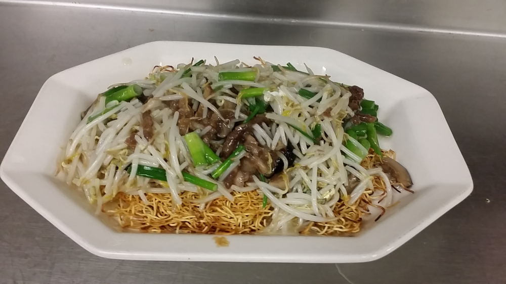 Pork Pan Fried Noodles