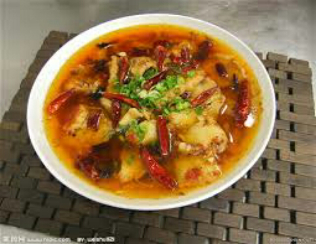 Braised Fish in Hot Chili Oil