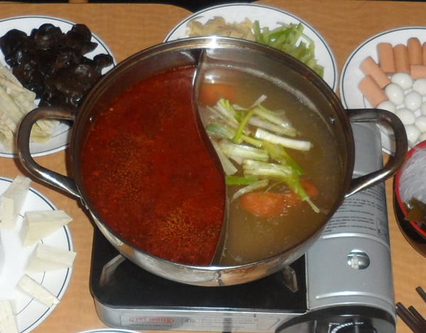Hot Pot Broth (half spicy and half non spicy)