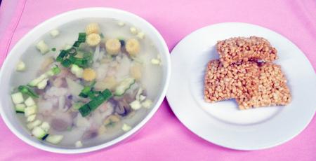 B5 Sizling Rice chicken soup