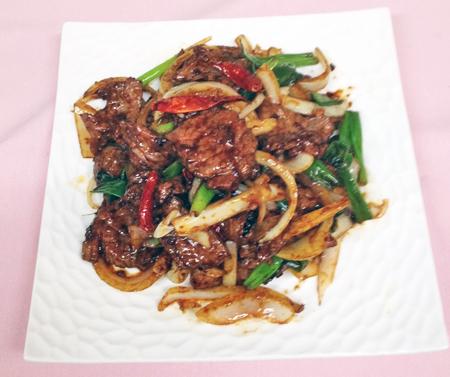 F1 Mongolian beef