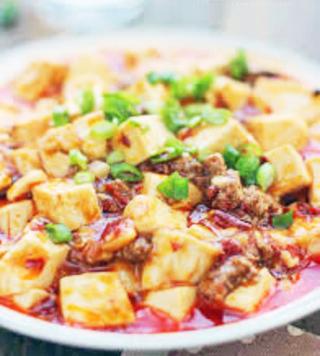Ma Po Tofu with chicken