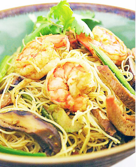 Shrimp Singapore noodle