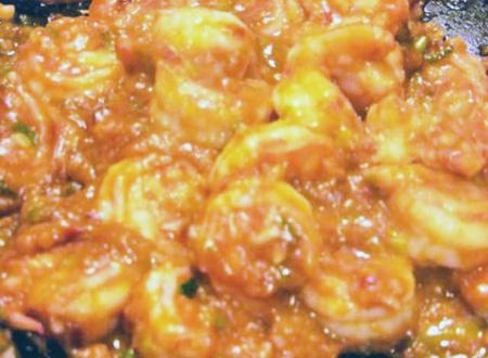 Ketchup shrimp rice
