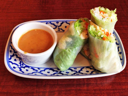 Spring Rolls with Peanut Sauce