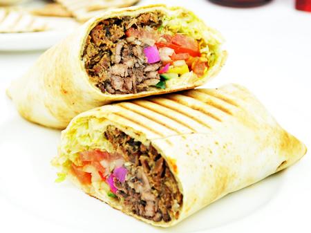 Beef-Lamb Shawarma Wrap