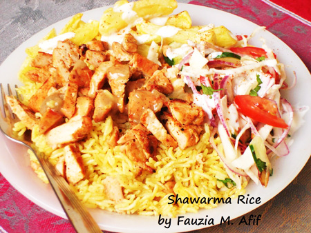 Chicken Shawarma with Rice Platter