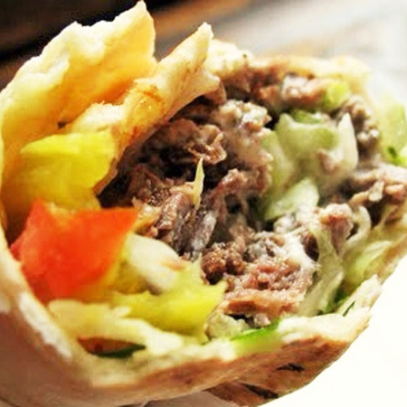 Lamb Shawarma Pita Sandwich