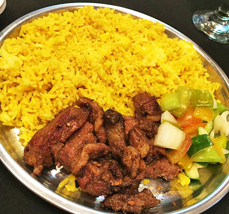 Lamb Shawarma with Rice Platter