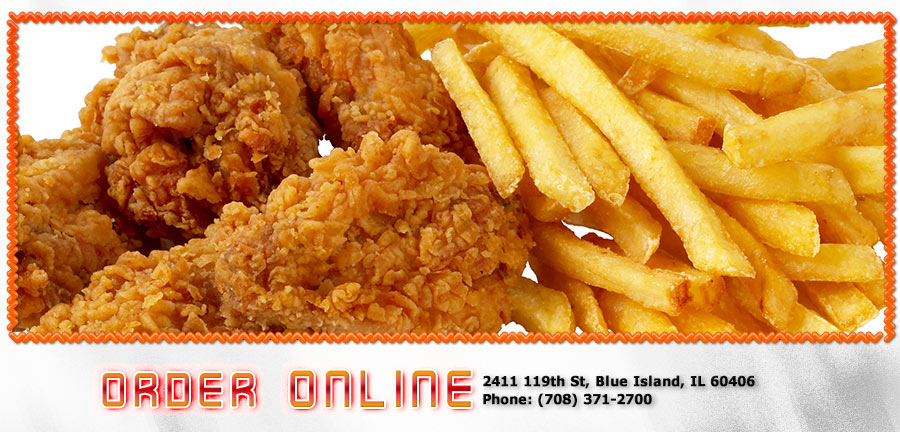 Sharks fish chicken order online blue island il for Sharks fish and chicken menu