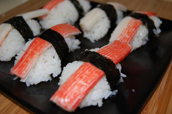 crab stick sushi