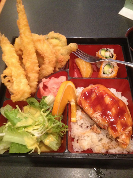 salmon teri bento lunch
