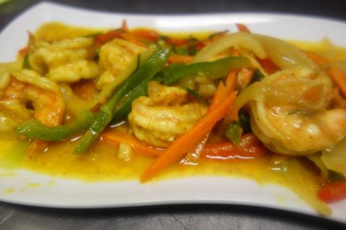 curry shrimp (seafood)