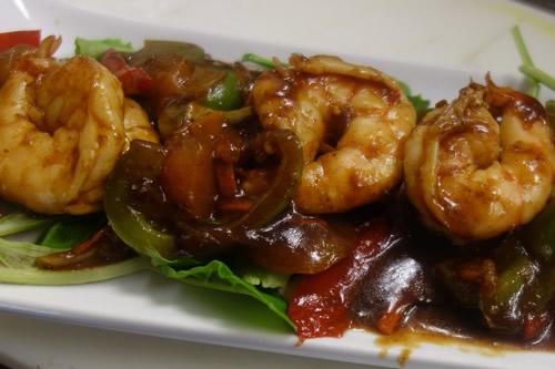 Jerk shrimp (apetizer)