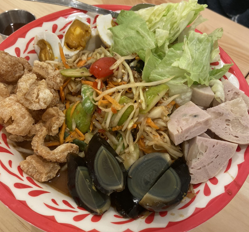 Papaya Salad Platter